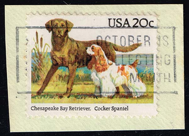 US #2099 Ches. Bay Retriever & Cocker Spaniel; Used (0.25)