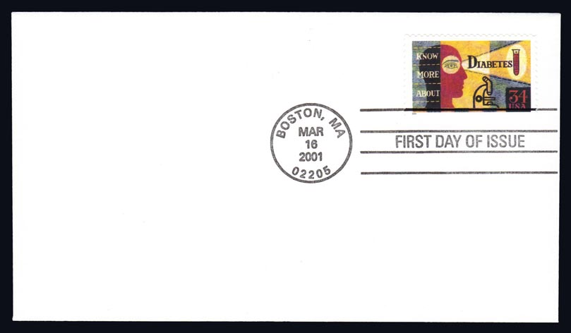 US #3503 Diabetes Awareness First Day Cover (1.25)