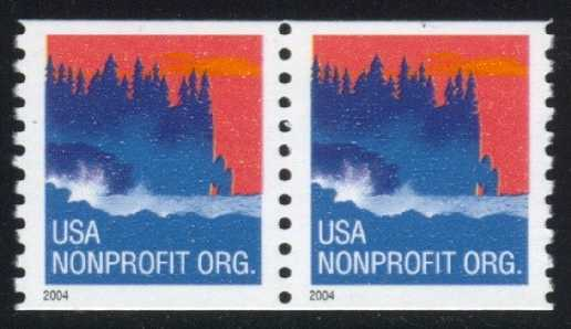 US #3864 Seacoast; MNH coil pair (0.25)