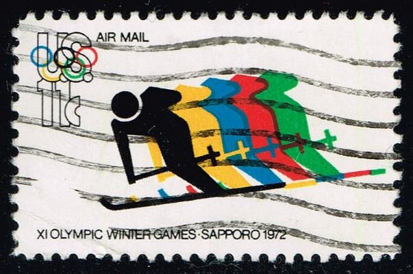 US #C85 Olympic Skiing; used (0.25)