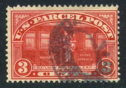 US #Q3 Parcel Post - Railway Clerk; used (6.50)