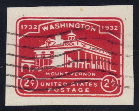 US #U525 Mount Vernon, used cut square (0.25)