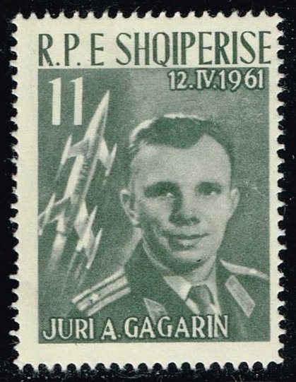 Albania #606 Yuri Gagarin and Vostok 1; Unused (9.00)