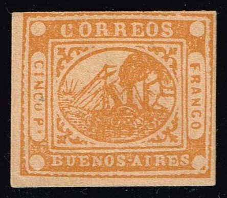 Argentina-Buenos Aires #5 Steamship; Forgery