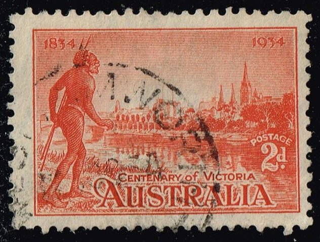 Australia #142a Centenary of Victoria; Used (4.50)