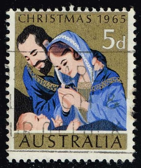 Australia #393 Christmas Nativity; Used (0.25)