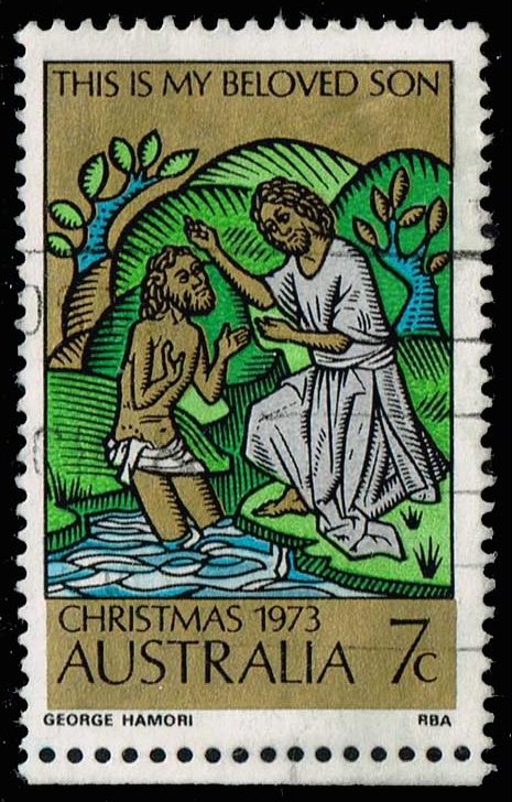 Australia #582a Baptism of Christ; Used (0.75)