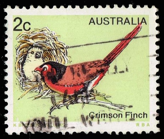 Australia #714 Crimson Finch; Used (0.25)