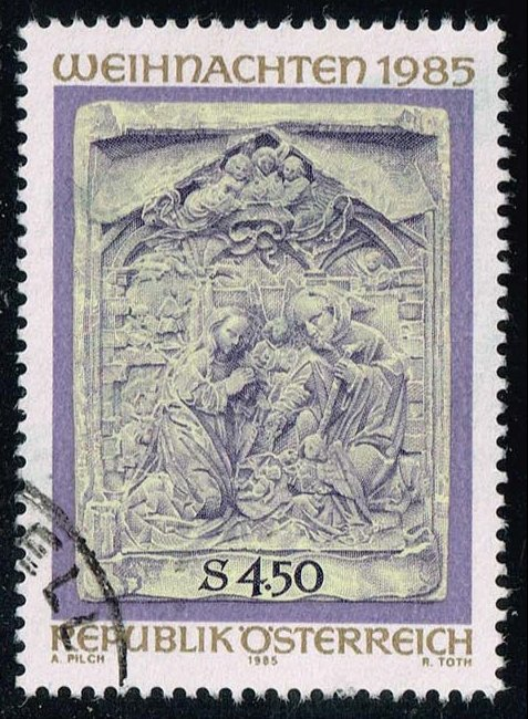 Austria #1330 Christmas; Used (0.75)