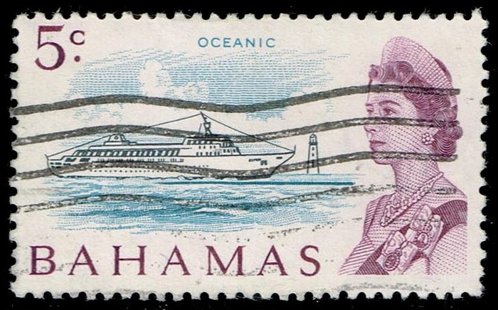 "Bahamas #256 Liner ""Oceanic""; Used (4.50)"