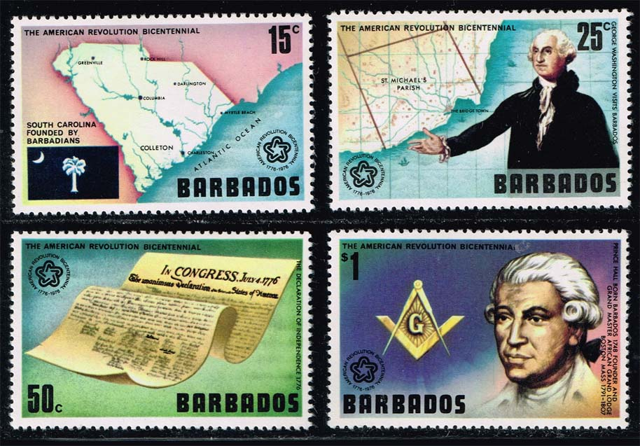 Barbados #440-443 American Bicentennial Set of 4; MNH (3.70)