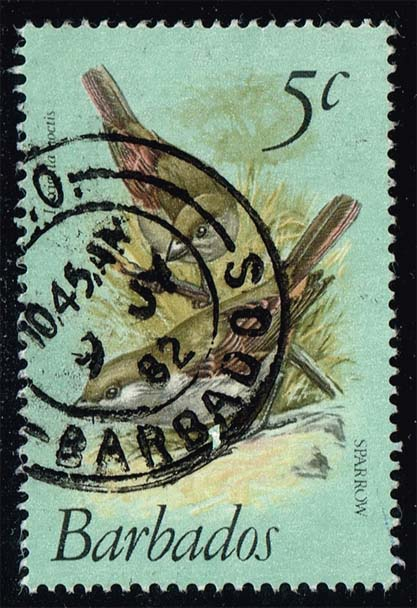 Barbados #497 Sparrows; Used (0.70)