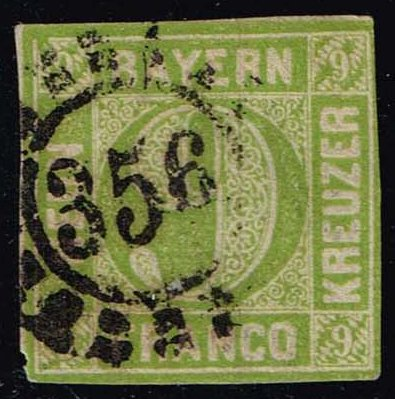 Germany-Bavaria #6 Numeral; Used (16.00)