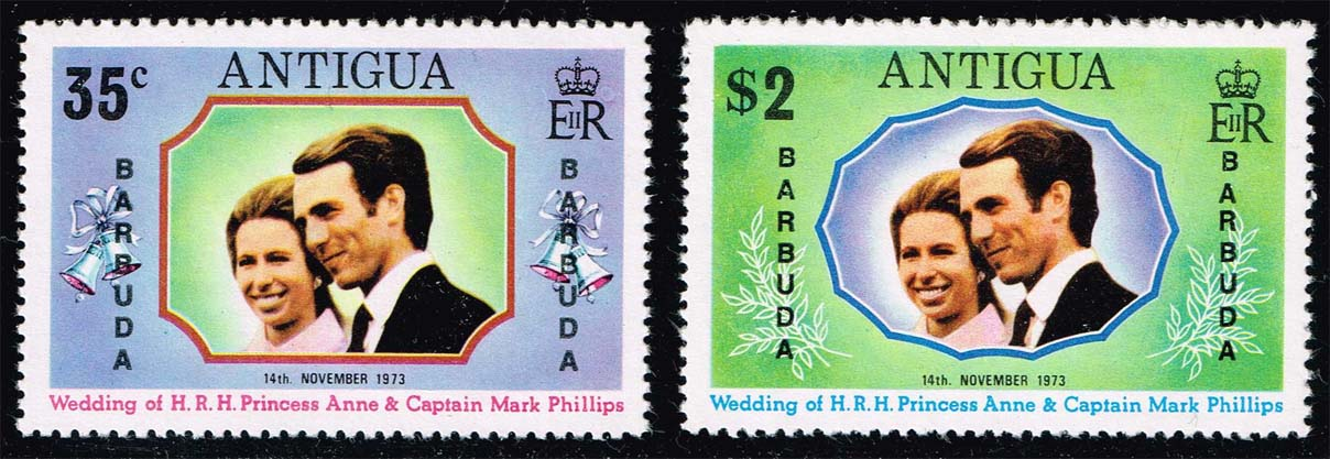 Barbuda #103-104 Royal Wedding Set of 2; MNH (10.00)