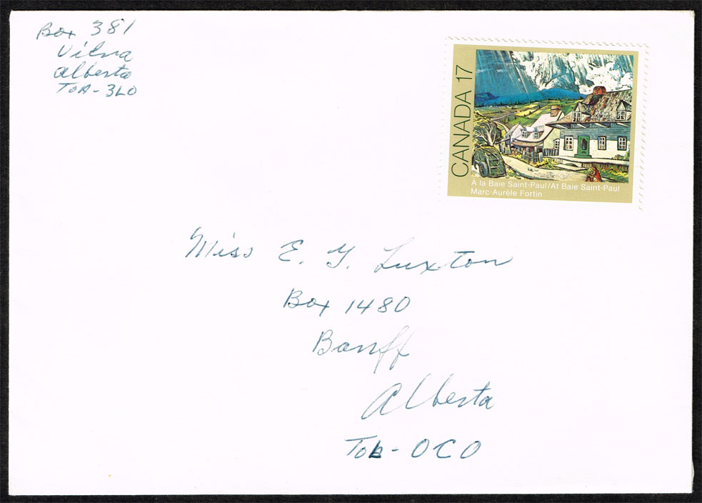 Canada #887 At Baie Saint-Paul; Unused on Cover