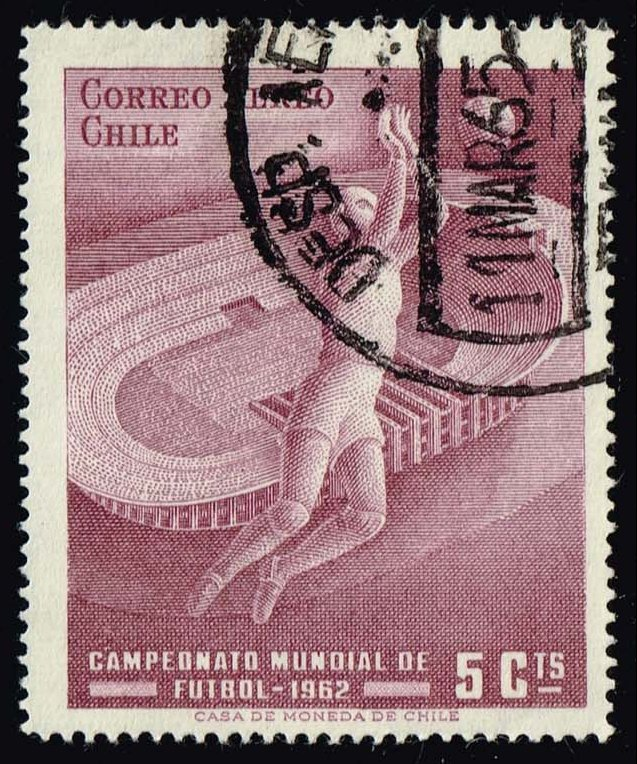 Chile #C246 World Soccer Championships; Used (0.25)