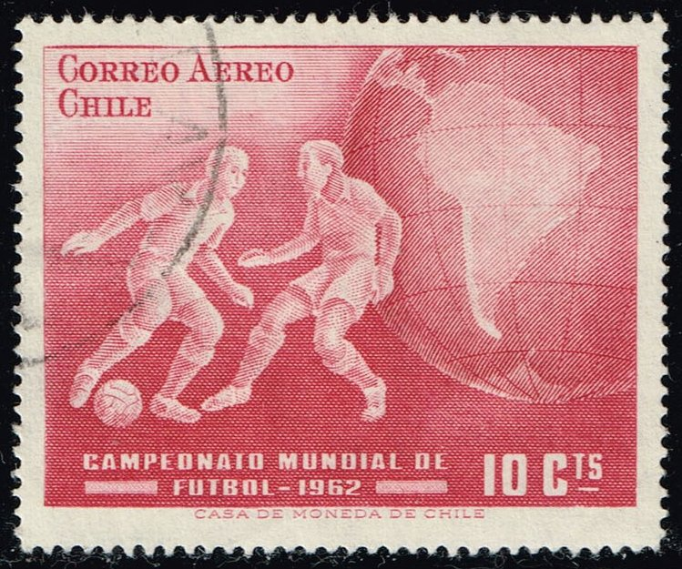 Chile #C247 World Soccer Championships; Used (0.25)