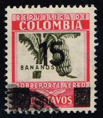 Colombia #C117 Bananas; Used (0.50)