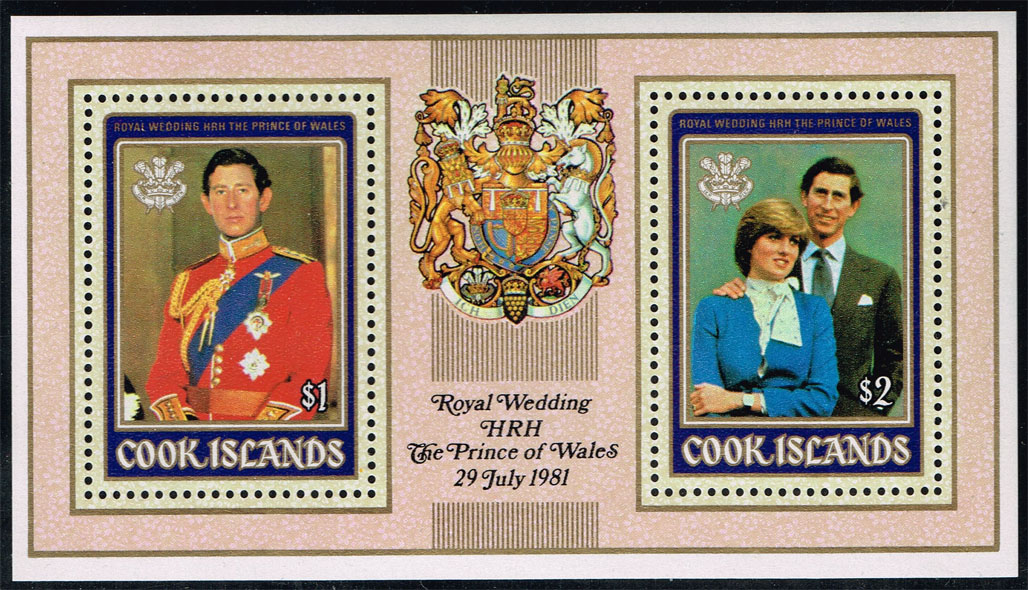 Cook Islands #600a Royal Wedding Souvenir Sheet; MNH (2.25)