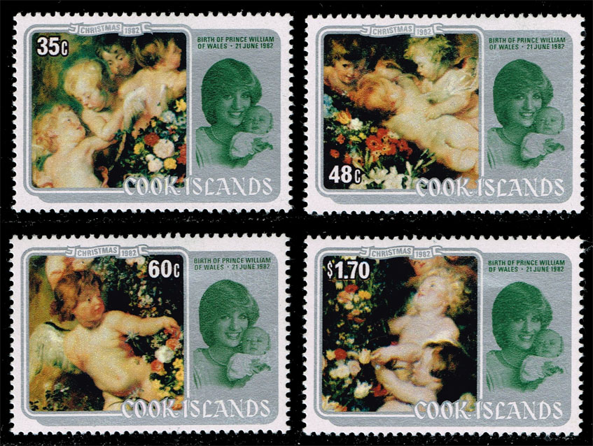 Cook Islands #687-690 Christmas Set of 4; Unused (10.05)