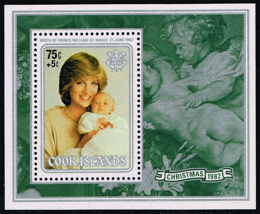 Cook Islands #693 Christmas Souvenir Sheet; MNH (2.50)