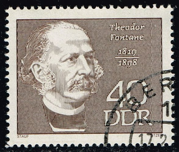 Germany DDR #1080 Theodore Fontane; CTO (0.25)