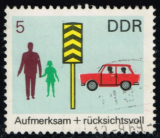 Germany DDR #1081 Traffic Safety; CTO (0.25)
