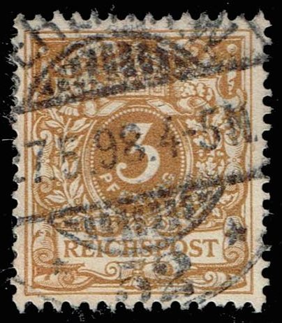 Germany #46a Numeral - Yellow Brown; Used (1.40)