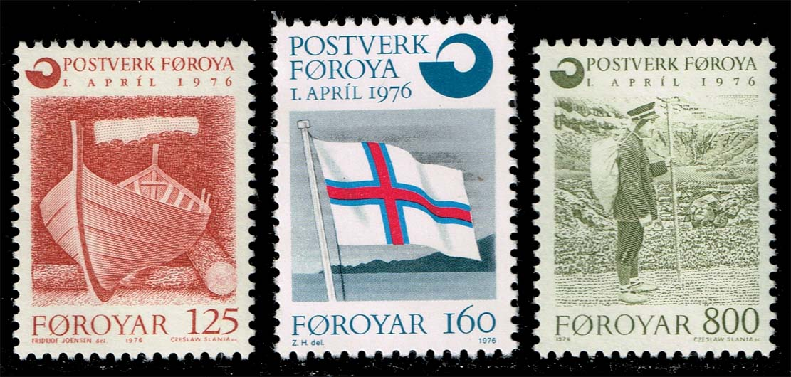 Faroe Islands #21-23 Postal Service Set of 3; MNH (4.75)