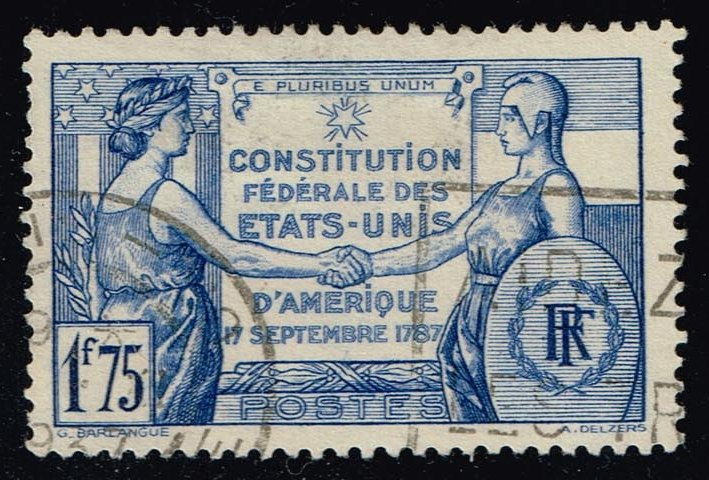 France #332 US Constitution Anniversary; Used (2.00)