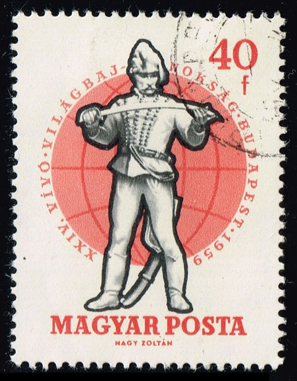 Hungary #1244 19th Century Soldier; CTO (0.25)