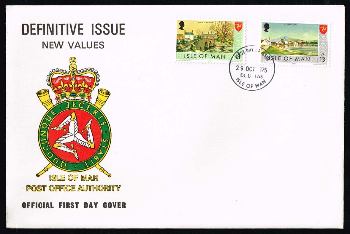 Isle of Man #58-59 New Definitives Official FDC