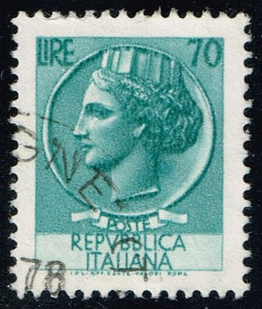 Italy #998M Italia from Syracusean Coin; Used (0.25)