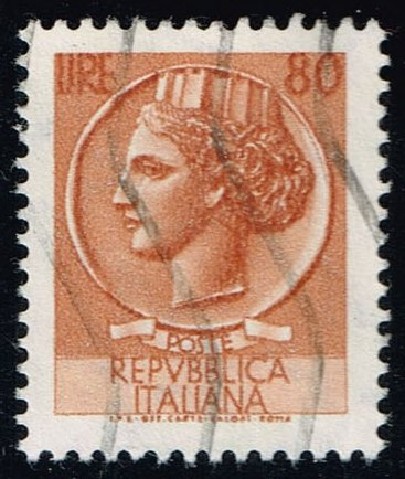 Italy #998N Italia from Syracusean Coin; Used (0.25)