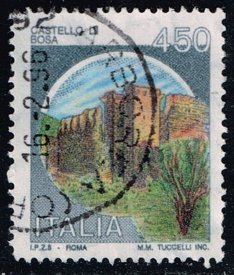 Italy #1425 Bosa Castle; Used (0.25)