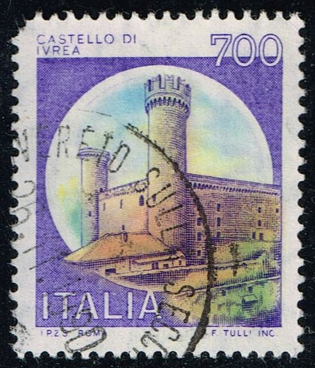 Italy #1428 Ivrea Castle; Used (0.25)