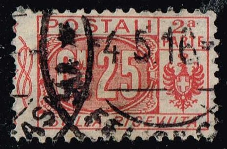 Italy #Q10 Parcel Post Right Half; Used (0.40)