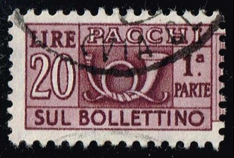 Italy #Q80 Parcel Post Left Half; Used (0.25)