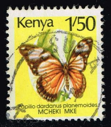 Kenya #430A Butterfly; Used (1.25)