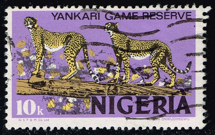 Nigeria #297b Leopards; Used (0.25)