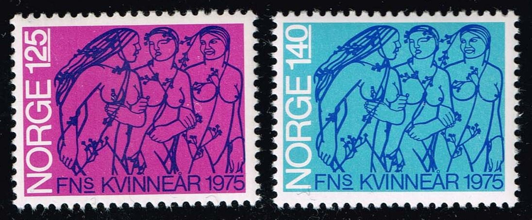 Norway #649-650 Int. Women's Year Set of 2; MNH (1.90)