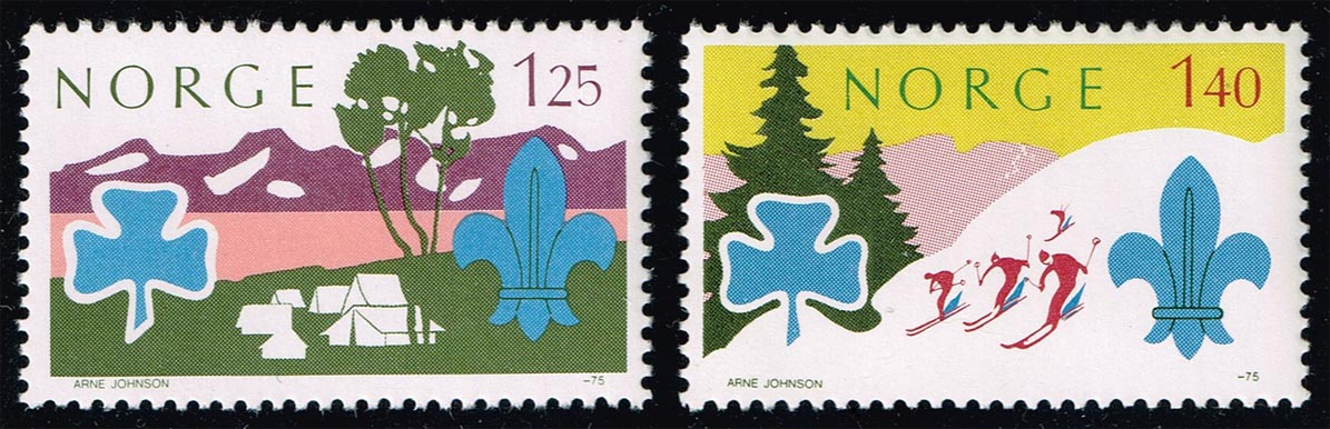 Norway #656-657 Boy Scouts Set of 2; MNH (2.75)