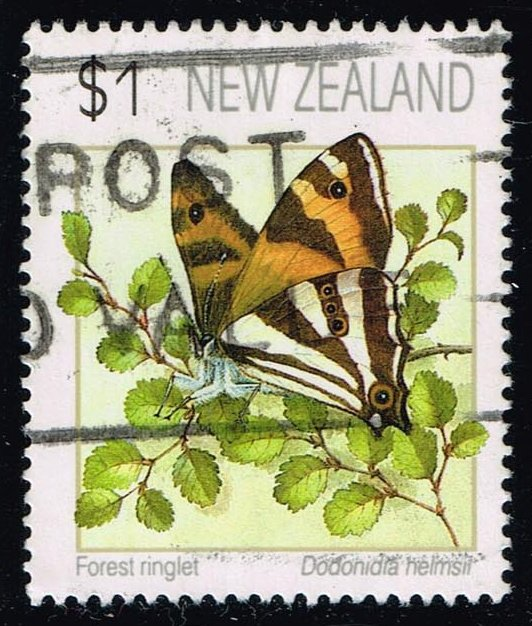 New Zealand #1075 Forest Ringlet; Used (1.10)