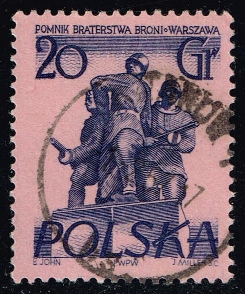 Poland #671 Brothers in Arms Monument; Used (0.25)