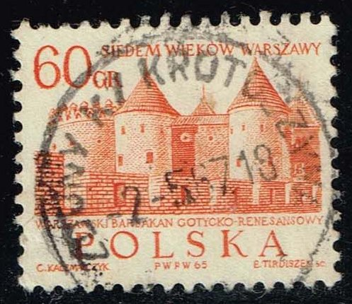 Poland #1338 Barbican Castle; Used at Wholesale
