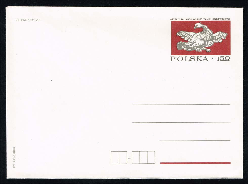 Poland Postal Stationery Ruch #CK 62; Mint