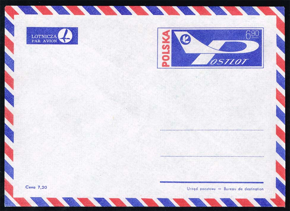 Poland Postal Stationery Envelope #CK 61 from 1976; Mint