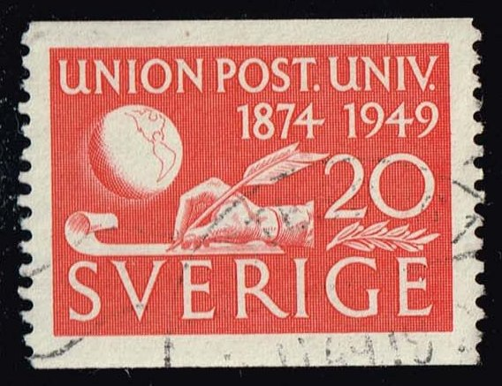 Sweden #412 75th Anniv. of the UPU; Used at Wholesale