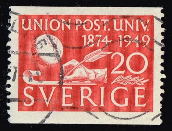 Sweden #412 75th Anniv. of the UPU; Used (0.25)