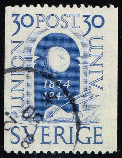 Sweden #413 75th Anniv. of the UPU; Used (0.65)